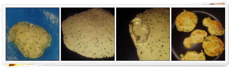 Pasos Tortitas de Patatas y Cebollino