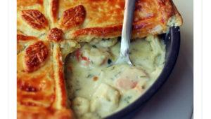 Pastel de Pollo con Verdura y Queso Azul <em>(British Pie)</em>